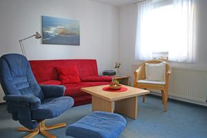 Der Wohnbereich im Apartment Hilligen Lunn 2.